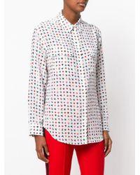 Equipment White Classic Embroidered Shirt