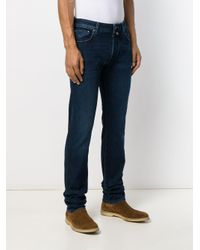 Jacob Cohen Blue Straight Leg Jeans for men