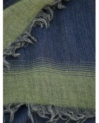 Fashion Clinic Timeless Blue Frayed Edge Scarf for men