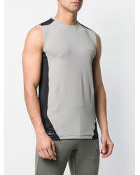 メンズ EA7 ロゴ ベスト Gray