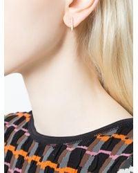 Anita Ko - Metallic Line Stud Earrings - Lyst