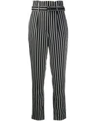 Полосатые Брюки С Завышенной Талией Calvin Klein, цвет: Black