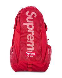 Supreme ロゴ バックパック Red