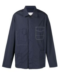 Maison Margiela Blue Contrast-stitch Shirt for men