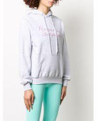Sudadera holgada con logo bordado y capucha Giada Benincasa de color Gray