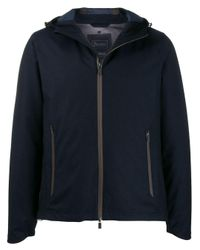 Herno Blue Hooded Down Jacket for men