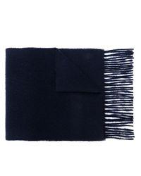 メンズ AMI クラシック スカーフ Blue