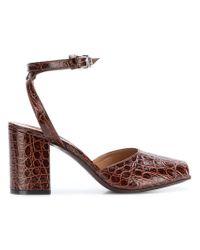 Marni Brown Peep Toe Sandals