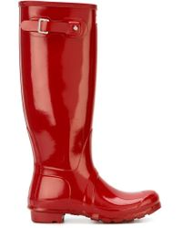 Hunter - Red Original Tall Gloss Boots - Lyst