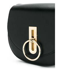 Nina Ricci Black Disc Buckle Rounded Shoulder Bag