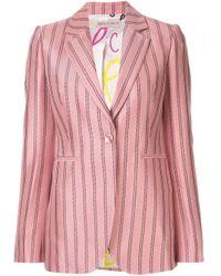 Emilio Pucci ストライプ シングルジャケット Pink