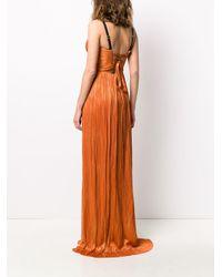 Maria Lucia Hohan Rayna シルク プリーツドレス Orange
