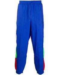 メンズ PUMA カラーブロック トラックパンツ Blue