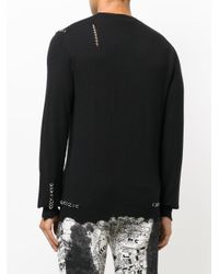 Alexander McQueen - Black Eyelet Trim Top for Men - Lyst