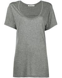 T By Alexander Wang Gray Relaxed Fit T-shirt