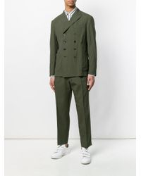 The Gigi Green Straight-fit Button Up Jacket for men