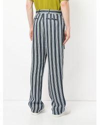 Pantalones a rayas con cinturón con hebilla D Cerruti 1881 de hombre de color Blue