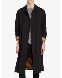 Burberry - Black Extra Long Car Coat for Men - Lyst