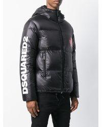 DSquared² Jas Met Bladerenprint in het Black voor heren