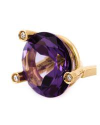 Delfina Delettrez - Metallic 'magic Triangle Piercing' Diamond Earring - Lyst