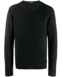 Jersey con cuello redondo Roberto Collina de hombre de color Black