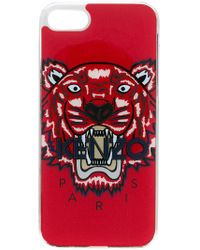 KENZO Red Tiger Print Iphone 8 Case