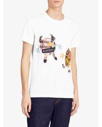 Burberry - White Creature Motif T-shirt for Men - Lyst