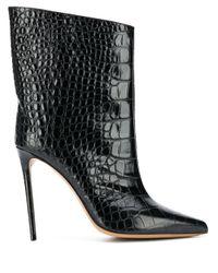 Ботильоны С Тиснением Под Кожу Крокодила Alexandre Vauthier, цвет: Black