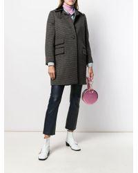Miu Miu チェック シングルコート Multicolor