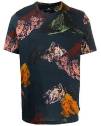 PS by Paul Smith Blue Mountain Print T-shirt for men