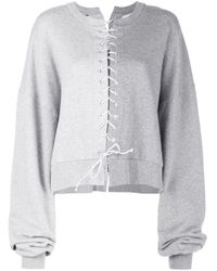 Unravel Project Gray Pullover mit Schnürung