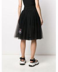 Gonna plissettata semi trasparente di Mr & Mrs Italy in Black