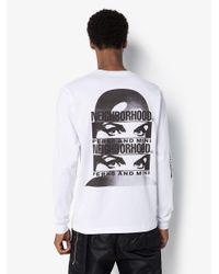 T-shirt a maniche lunghe x P.A.M di Neighborhood in White da Uomo