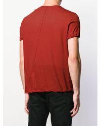 メンズ Rick Owens ショートスリーブ Tシャツ Red