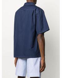 メンズ Prada ステッチディテール シャツ Blue