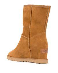 Ботинки На Скрытой Танкетке Ugg, цвет: Brown