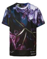 Camiseta con estampado Marchito Roberto Cavalli de hombre de color Multicolor