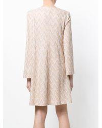 M Missoni - Pink Zigzag Knit Dress - Lyst