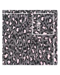 KENZO - Gray Leopard Print Scarf - Lyst