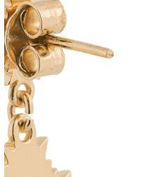 Boucles d'oreilles pendantes August Meadowlark en coloris Metallic