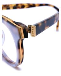 Retrosuperfuture - Metallic Tortoiseshell Round Frames for Men - Lyst