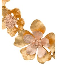 Oscar de la Renta - Multicolor Bold Flower Bracelet - Lyst