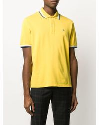 メンズ Etro ストライプトリム ポロシャツ Yellow