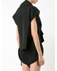 Barbara I Gongini Black Sleeveless Wrap Jacket