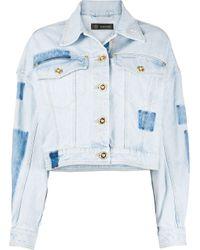 Versace Blue Dropped Shoulders Denim Jacket
