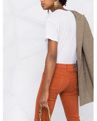 Vaqueros rectos con cinco bolsillos J Brand de color Orange