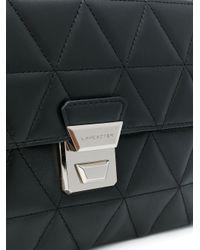 Lancaster Black Quilted Crossbody Bag