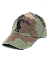 Cappello con ricamo di Polo Ralph Lauren in Green da Uomo
