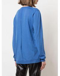 Rick Owens Blue Pullover mit lockerem Schnitt