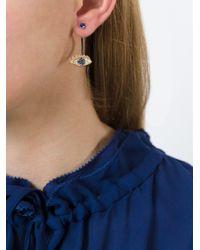 Delfina Delettrez - Blue 'eyes On Me Piercing' Diamond And Sapphire Earring - Lyst